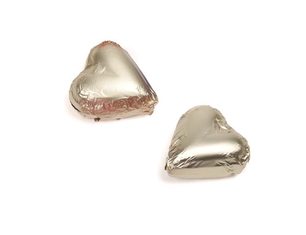 Bombón corazón envuelto oro