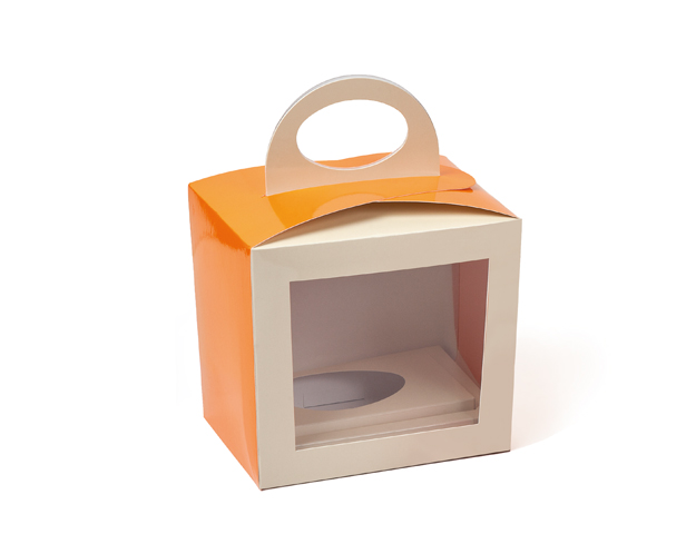 Caja naranja-crema
