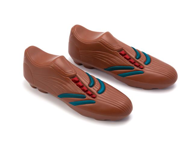 Zapato foot azul y rojo