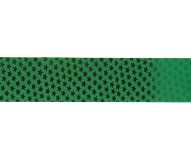 Cinta papel metalizado estrellita verde 25mm-50mt