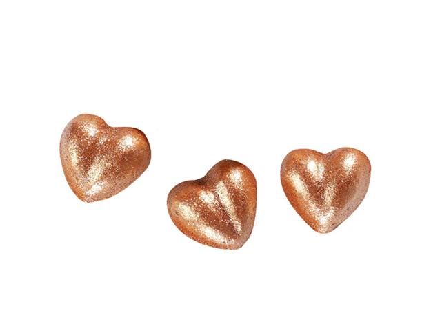 Corazón brillante bronce