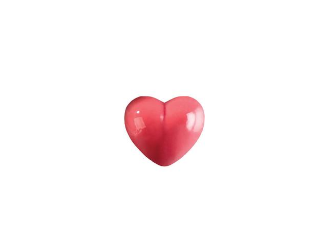 Corazón rojo relieve