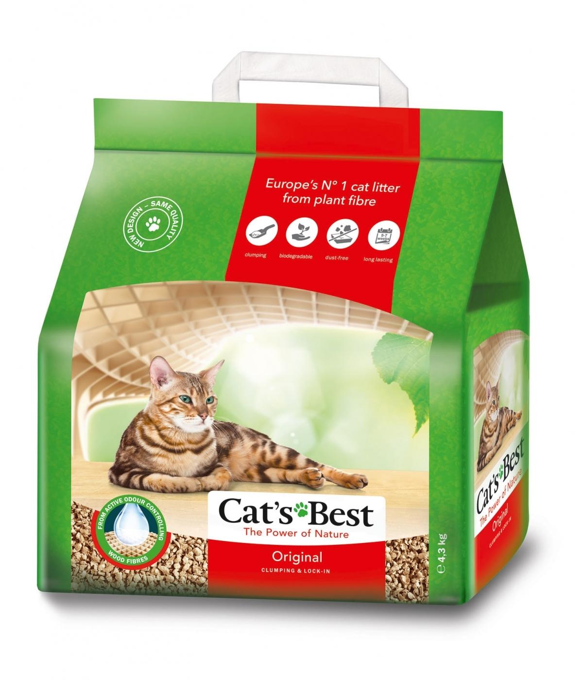 CAT'S BEST ORIGINAL(OKO PLUS) 5L(aglom.si wc)2,1kg