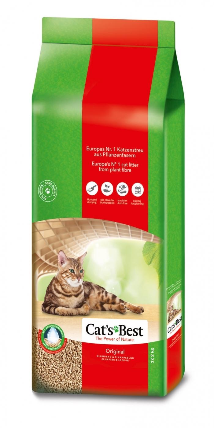 CAT'S BEST ORIGINAL (OKO PLUS) 40L (aglom.-si wc)
