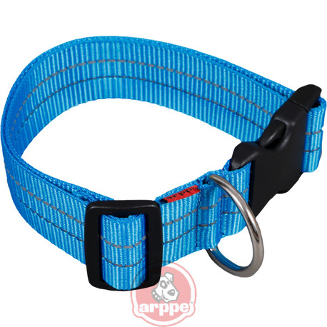COLLAR NYLON REFLECTANTE AZUL T.50 C.07