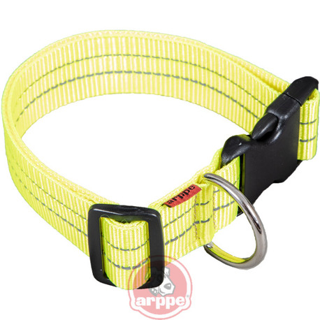 COLLAR NYLON REFLECTANTE AMARILLO T.50 C.13