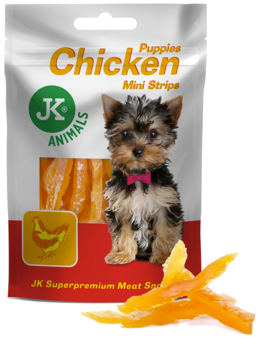 Meat Snacks MINI STRIPS CHICKEN for PUPPIES 50g