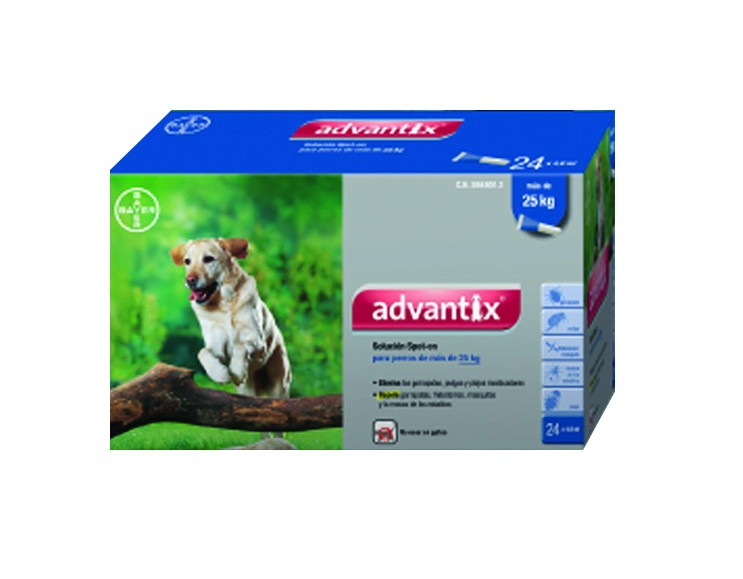 ADVANTIX  + 25kg    *24pip. x 4,0ml*