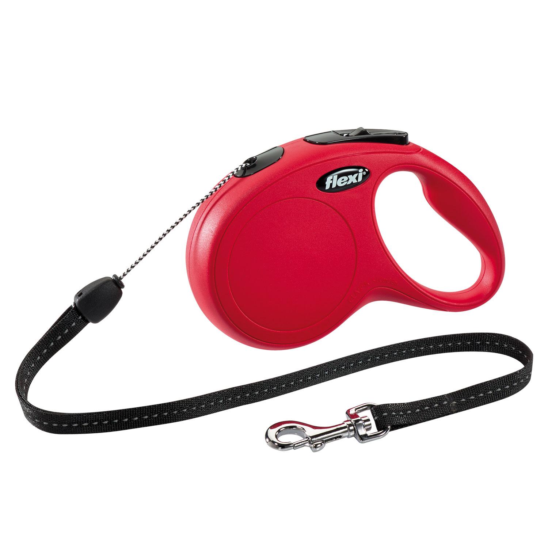 Flexi New Classic   5m   Rojo  T.M  Cordón  <20kg