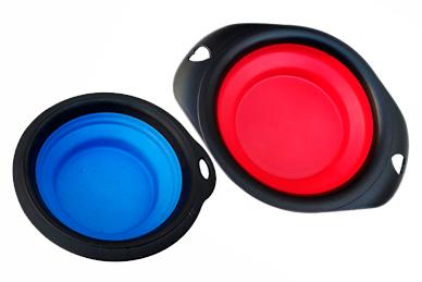 Bowl Silicona Plegable 070l  Azul - Rojo