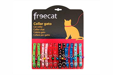Expositor 12 collares para gatos con cascabel