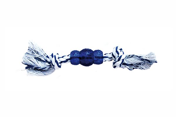 Mordedor blanco-Azul 3aros  30cm