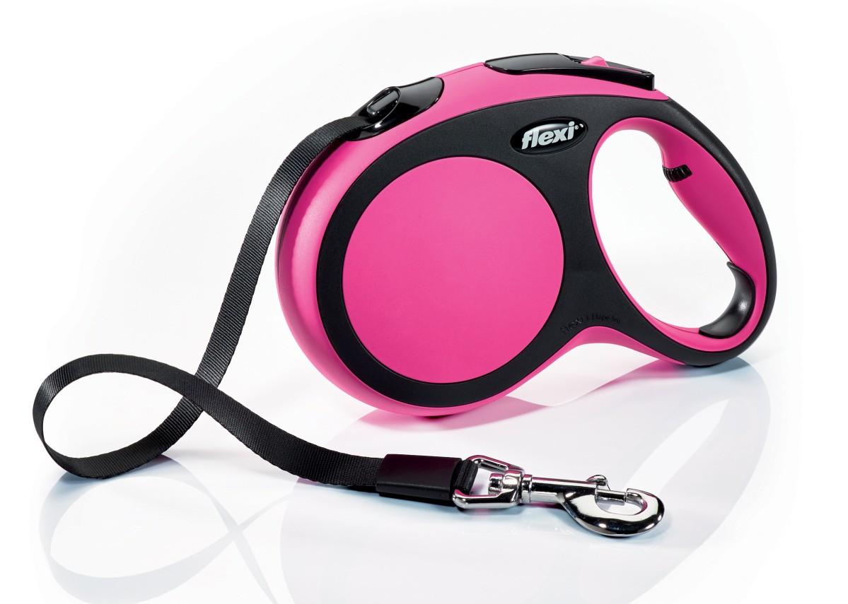 Flexi New Comfort 5m Rosa  T.L  Cinta   <60kg