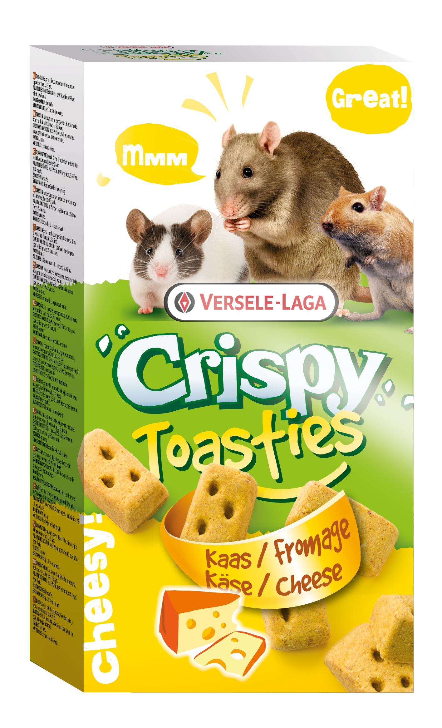 Snack toasties bizc.c/queso 150g p/roedor