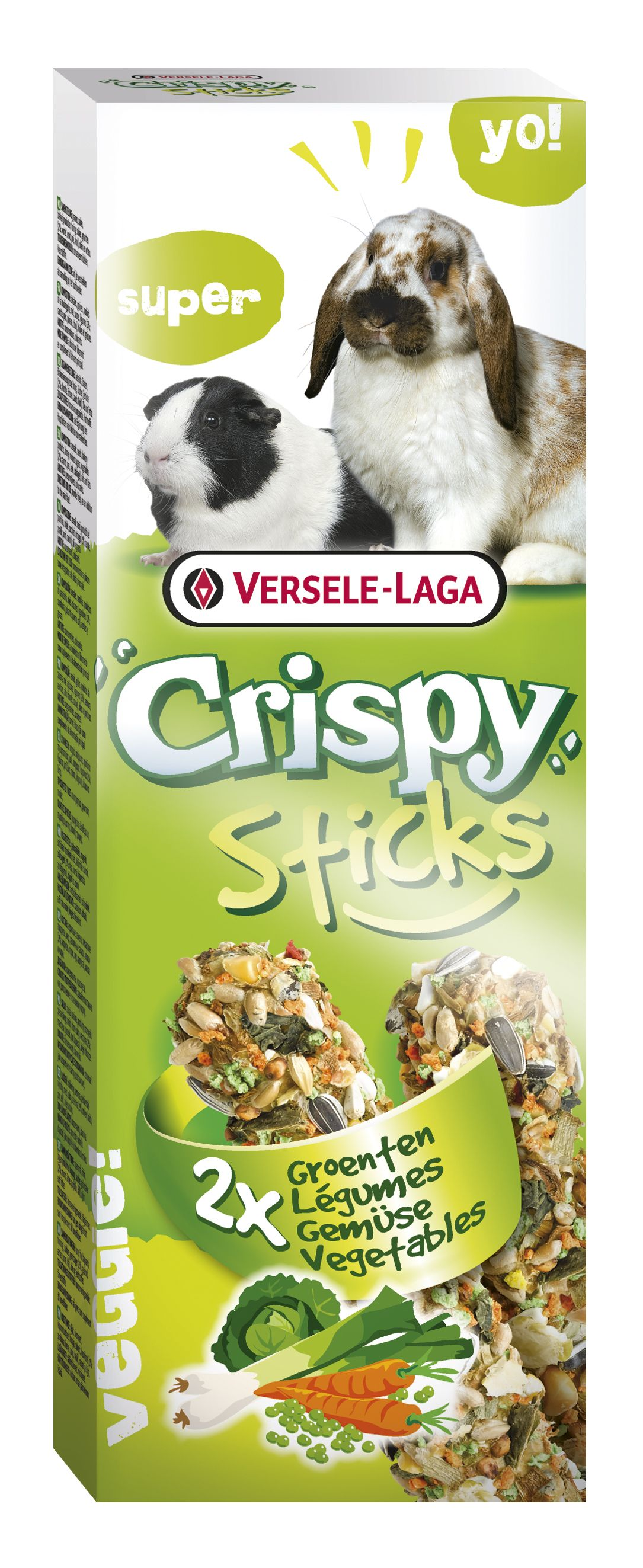 Stick Crispy Vegetales (Conejo/Cobaya) 2un. 110gr.