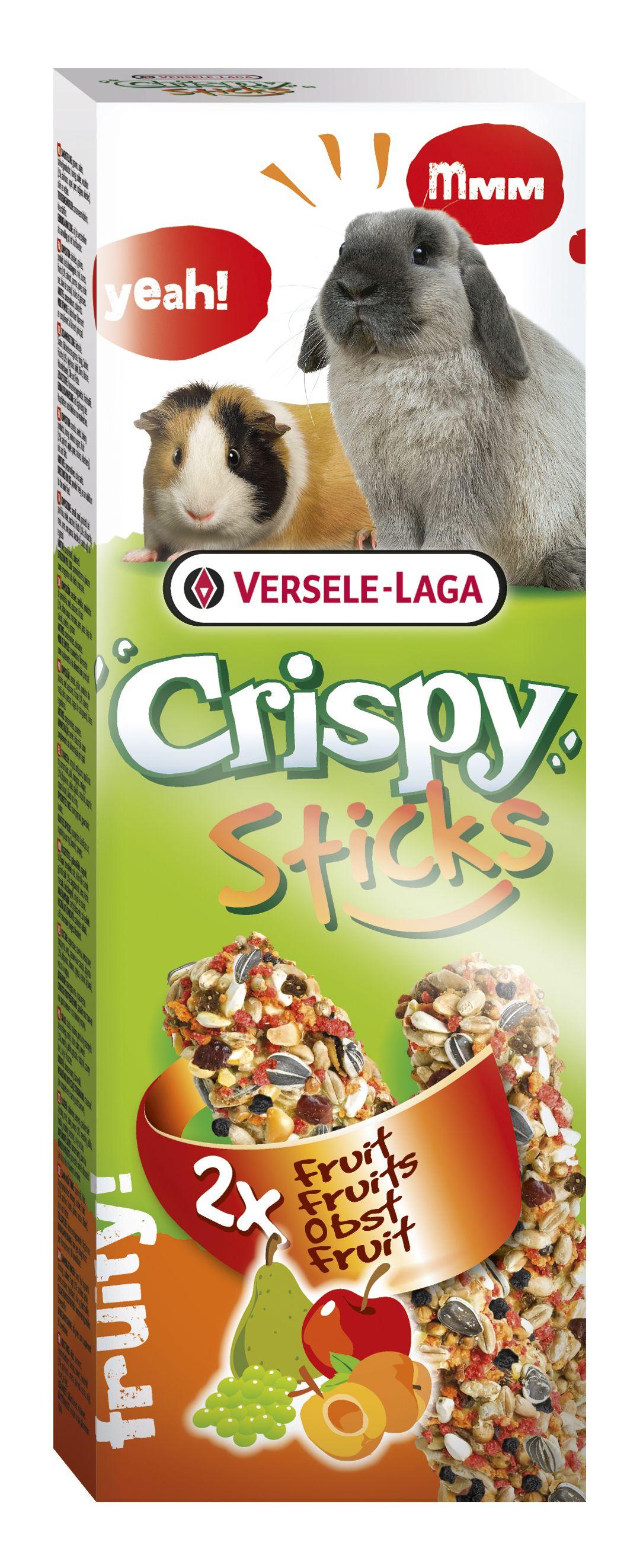 Stick Crispy Frutas  (Conejo/Cobaya) 2un.  110gr.