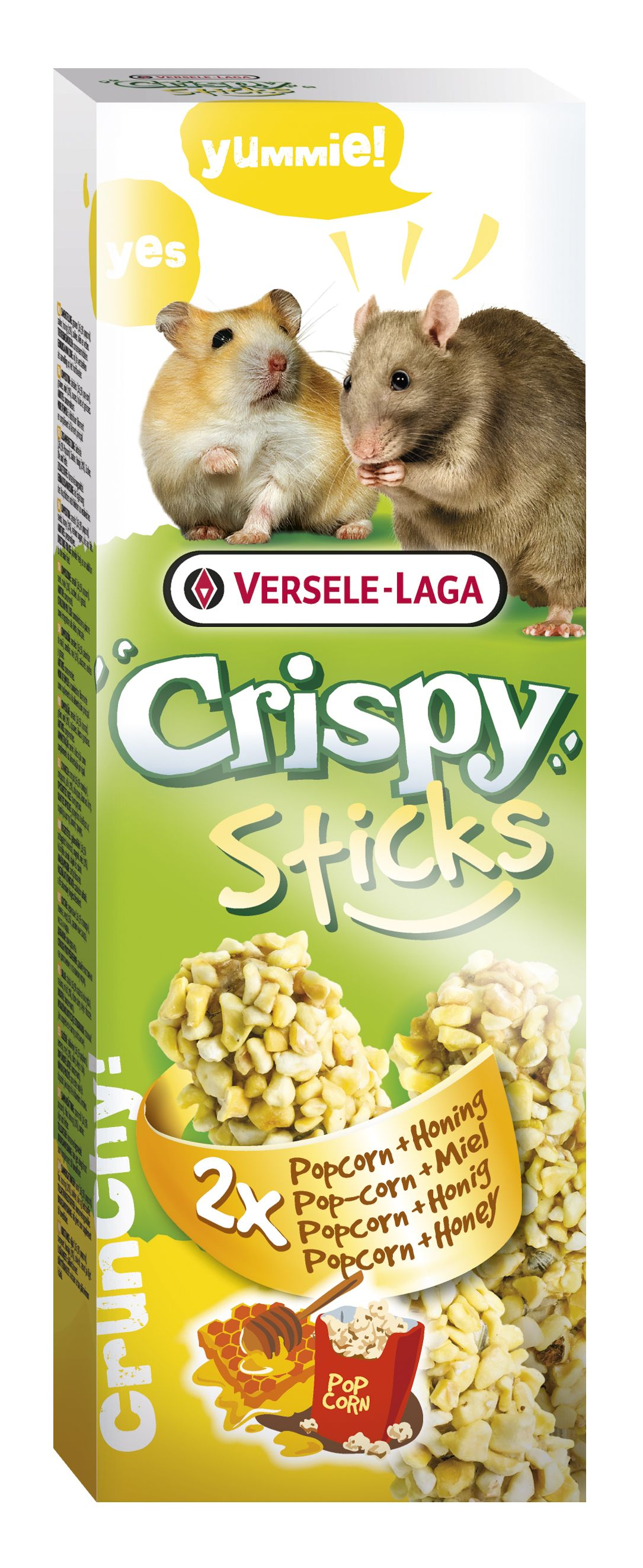 Stick Crispy Palomitas y Miel (Rata /Hamster)  2un