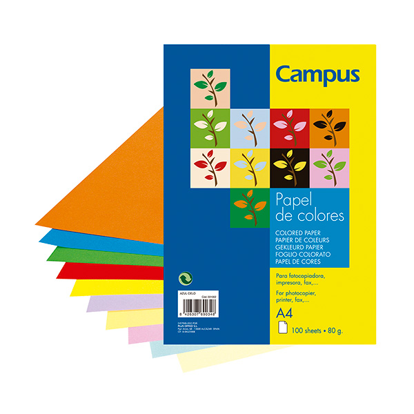 Papel color Campus A4 Azul Pastel (100h)