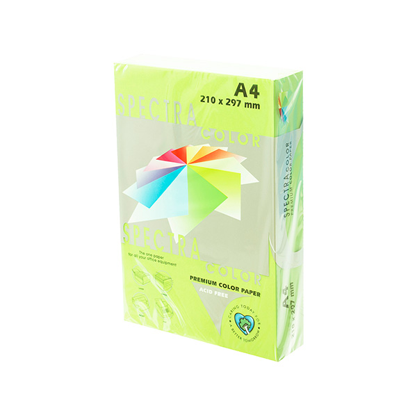 Papel color A4 80gr Verde Claro (500h)