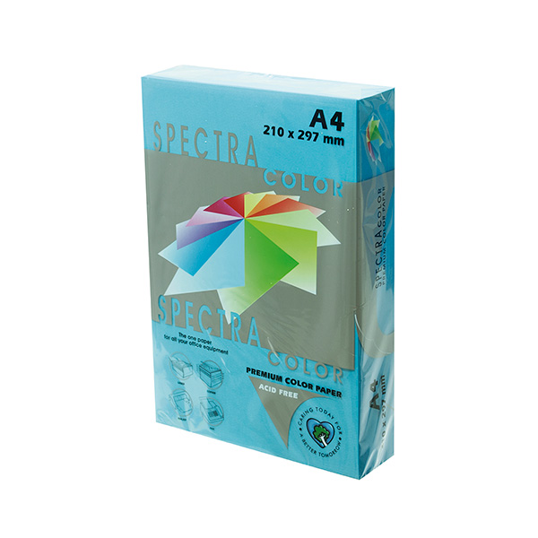 Papel color A4 80gr Azul Medio (500h)