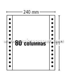 Papel Continuo Fabrisa 240x11 Blanco autocopiativo 2h (1500 h/c)