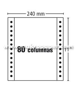 Papel Continuo Fabrisa 240x11 Blanco autocopiativo 3h (1000 h/c)