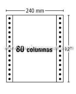 Papel Continuo Fabrisa  240x12 Blanco 1h (2500 h/c) 70gr