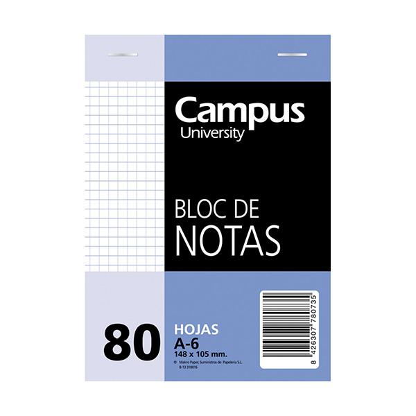 Bloc notas microperforado A6 80h 60gr Cuadriculado