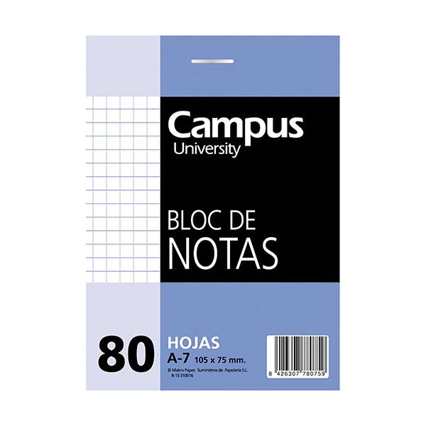 Bloc notas microperforado A7 80h cuadriculado