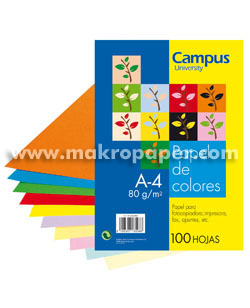 Papel color Campus A4 Rojo Intenso (100h)