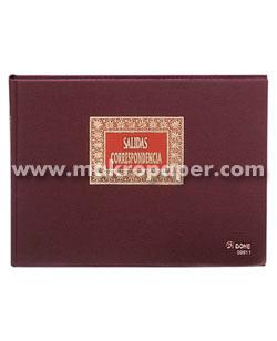 Libros de contabilidad y registro Salida correspondencia Fº Apaisado (100h.)