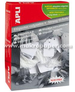 Etiquetas colgantes Apli 28x43mm (500u./env)