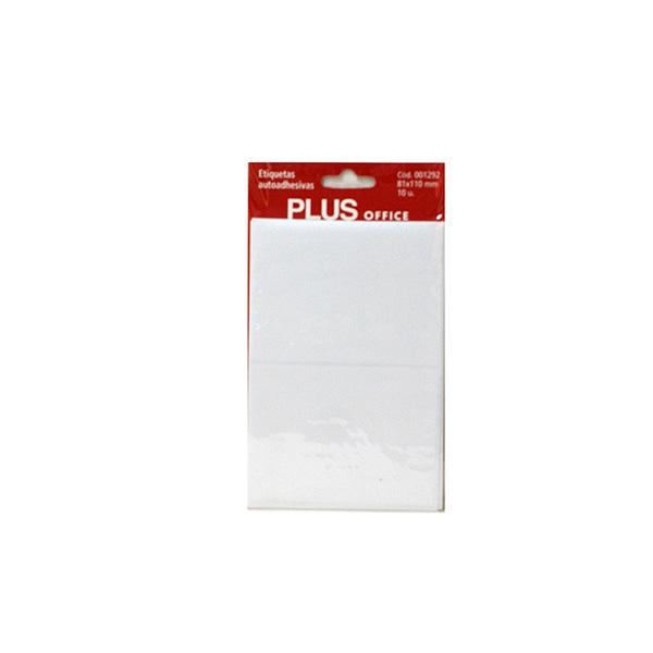 Etiquetas adhesivas Plus Office 81x110 Sobre 5h