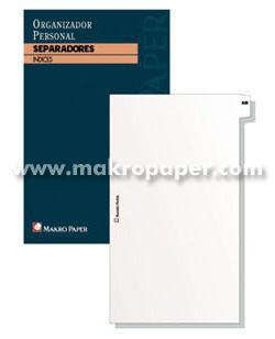 Separadores agendas anillas Makro Paper 13x18 (20 hojas)