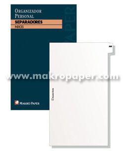 Separadores agendas anillas Makro Paper 18x23 (20 hojas)