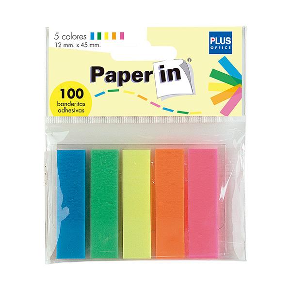 Banderitas autoadhesivas Paper In 5 colores
