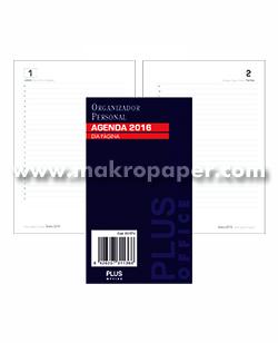 Recambios anualidad para agendas anillas Plus Office Día Página 18x23