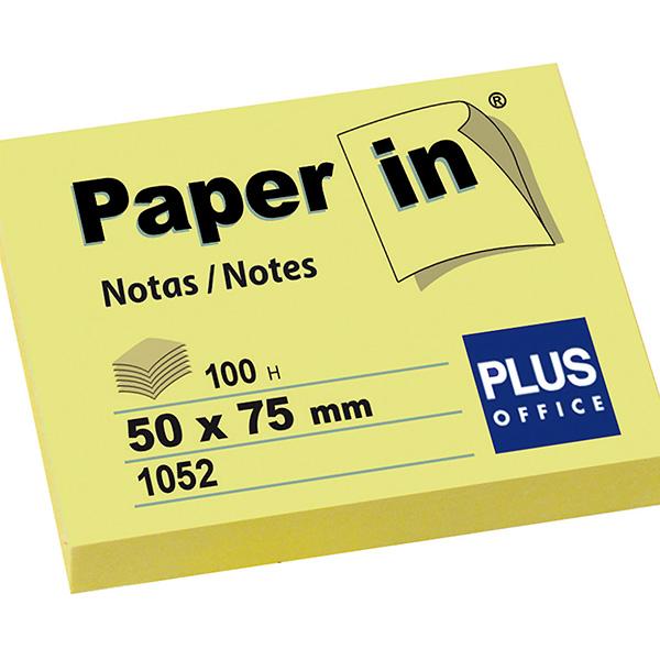 Blocs notas Paper in amarillas 50x75 mm