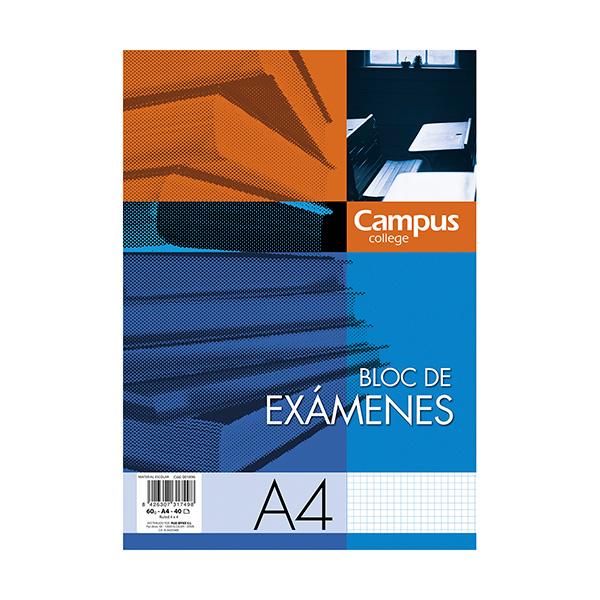 Bloc de exámenes Campus A4 40h Cuadrícula 4 mm