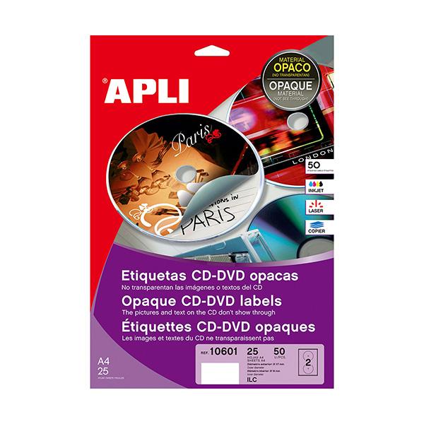 Etiquetas Mega CD-DVD Apli Dorso opaco