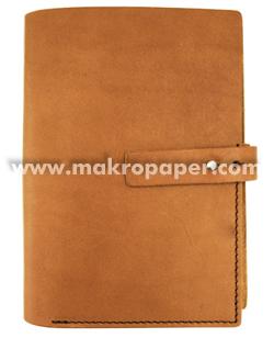Agenda piel mediana marrón claro