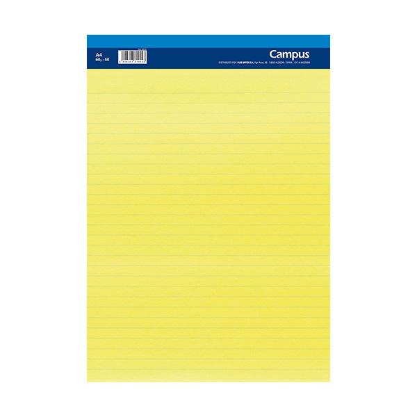 Bloc notas microperforado A4 50h 60gr papel amarillo