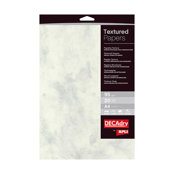 Papel textura Apli A4 marmol color gris 95gr