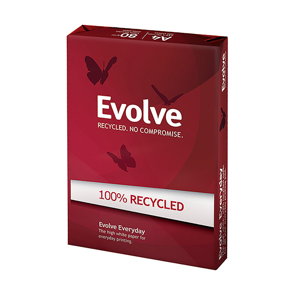 Papel Evolve A4 reciclado 80gr 500h