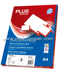 Etiquetas adhesivas Plus Office 52x30 (100h)