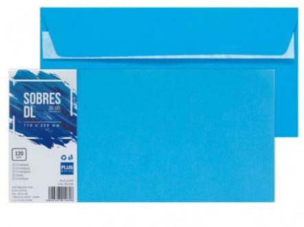 Paquete 20 sobres 110x220 azul pastel