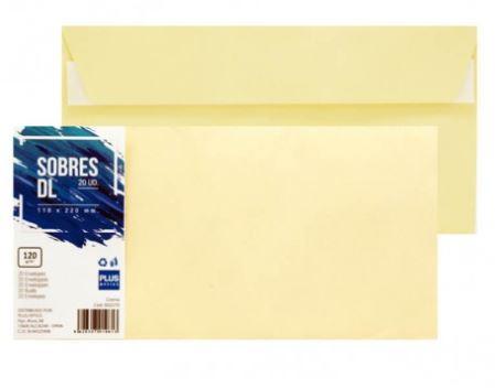 Paquete 20 sobres 110x220 crema
