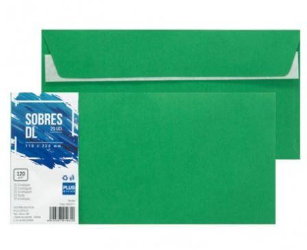 Paquete 20 sobres 110x220 verde