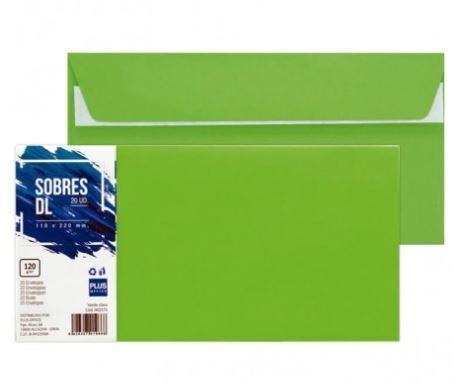 Paquete 20 sobres 110x220 verde claro