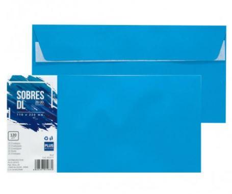 Paquete 20 sobres 110x220 azul